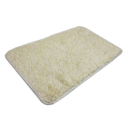 STYLISH LUXURY SPARKLE GLITTER FLUFFY SUPER SOFT BATH MAT NON SLIP CREAM